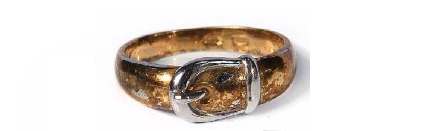 silver rings with gilding russia